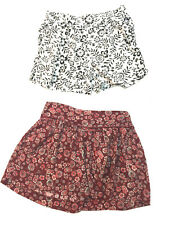 Lot 2 Girl Rayon Pleated Shorts Elastic Waist Old Navy Zara Floral Size 10