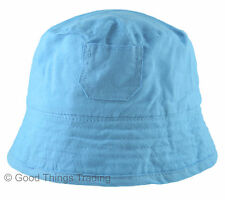 Baby Sun Hat Summer Beach Hat Boys Girls 100% Cotton Boonie Bush Bucket 9-24 M
