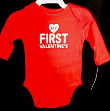 NWT Infant Boys Girls Carter's MY FIRST VALENTINE'S Red long Sleeve Shirt 3m NEW