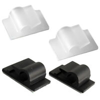 Car Cable Clips Adjustable Adhesive Cable Straps Cord Management Tie Black/White