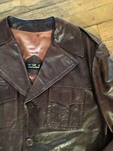 Vintage Cortefiel Brown Leather Jacket Size 40