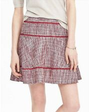 Banana Republic Tiered Tweed Skirt In Dusty Pink (SZ 14)