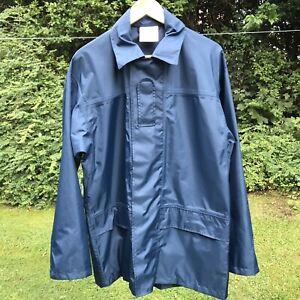 "Foul Weather Navy Zip Up Waterproof/Wind Resistant RAF Blue Jacket Coat   M 38"""