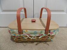 * Longaberger * 2008 Buds & Blossoms Small Market Basket Combo (B/L/L/P/T) *