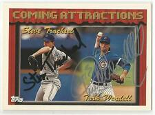 TURK WENDELL STEVE TRACHSEL Autographed Signed 1994 Topps card Chicago Cubs COA