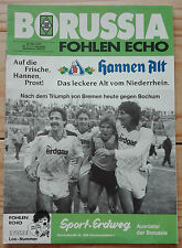 FohlenEcho - Saison 1986/87 - Borussia Mönchengladbach - VfL Bochum