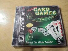 Brand-New Family Card Games Fun Pack (Sony PlayStation 1, 2003) Freeshipping