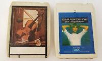 Olivia Newton-John 8 Track Tapes Set of 2 Don't Stop Believin If You Love Me Let