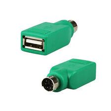 PS/2 Maschio a USB Tastiera Mouse Adattatore Donna-Per Cavo Di Piombo-PS2 6 Pin MINI DIN