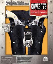 Cowboy Metal Replica Set Pistol Toy Stagecoach Double Cap Gun Holster Western