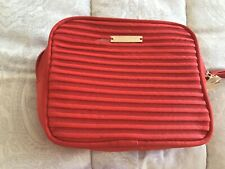GIORGIO ARMANI BEAUTY RED MAKE UP COSMETIC TRAVEL BAG New with dust bag