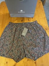Sunspel Cotton Liberty Print Men's Boxer Shorts Size Medium New With Tags