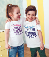 personalised love you to the moon and back childrens t-shirt /bodysuit/baby/kids