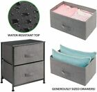M+DESIGN+STORAGE+NIGHT+STAND%2FEND+TABLE%2FOFFICE+-+STEEL+-CHARCOAL+-+2+FABRIC+BINS