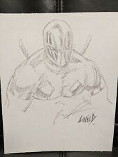 Deadpool original art sketch on paper by Rob Liefeld.  VIP badge included