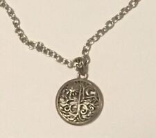 tree Of life sterling silver pendant on costume necklace jewellery chain hippy