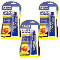(6,33€/100g) 3x 40g Kontakt Kraft Kleber Extra Stark Wasserfest Holz Metall #004