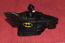 "BATMAN In BatMobile CAR 1991 DC Comics Plastic Working 3-Wheels Vintage 3.5""Long"