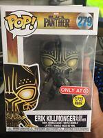 Exclusive Erik Killmonger GITD Glow Funko Pop Vinyl NEW in Box + Target sticker
