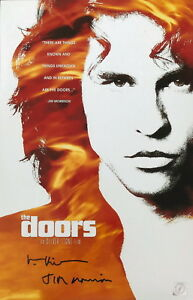 "Val Kilmer ""Jim Morrison"" Autographed Doors 11x17 Poster ASI Proof"