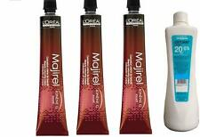 L'Oreal Majirel Hair Color Tube Developer with Ayur 495ml Dark Brown (Pack Of 3)