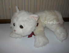 "Russ Berrie Large plush White Snowflake cat kitten 24"" plush stuffed excellent"