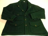 Pioneer Brand Vintage Green Wool Mackinaw Hunting Cruiser Jacket Men's M/L? EUC