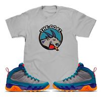 The Goat T-Shirt To Match Air Jordan Retro 9 Boot Green Abyss Sneakers S-3XL