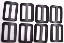 Blackened Aluminium Strap Buckles 1 3/8 x 1 x 1/8 fits 1 strap lot of 8 E1018