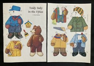 Teddy Baby in the Fifties Teddy Bear Paper Doll, 1987, Magazine Pd