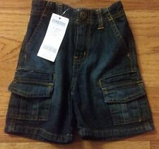 NWT Gymboree Baby Boy Blue Denim Shorts  Size 12-18 Months