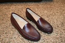 NEW TRIPAD SAS WOMENS 9 BURGUNDY LEATHER CLASSIC SLIP ON LOAFER COMFORT SHOES