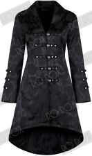 Womens Andromeda Rave Victorian Brocade Coat Steampunk Gothic Jacket UK 10-12
