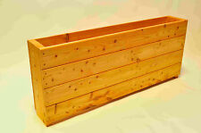 Wooden Troughs Garden Planters - FOUR extra high 600mm x2m long fully assembled