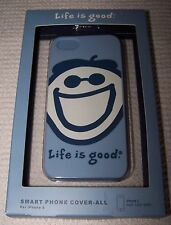 Life is Good JAKE SMILING FACE Smart Phone Case for iPhone 5 SHADOW BLUE  ~ $24