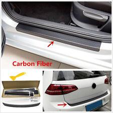 5 Pcs DIY Black 3D Carbon Fiber Look Car Door/Tail Trunk Edge Protector Stickers