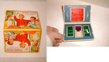 vintage retro sewing needle case susan advertising colorful