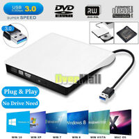 Slim External USB 3.0 DVD ROM RW Combo CD-ROM R CD-RW Burner Drive Writer Reader