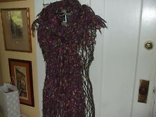 Chico's Acrylic Polyester Alpaca Mohair Metallic Thread Boa Style Knit Scarf