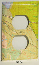 Geologic Map Wall Decor Outlet Switch Plate Cover