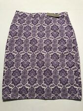 NEW WITH TAG! J Crew No. 2 Pencil Skirt Medallion Paisley Purple Size 4 NWT
