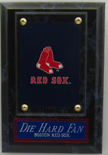 Die Hard Fan Boston Red Sox Logo Card Plaque For Your Man Cave Wall Decor