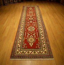 3 x 12 Hand Knotted Fine Quality Afghan Kazak Chobi Runner _Vegetable Dyed Wool