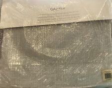 Calvin Klein Textured Plaid Aqua Twin Blanket New In Opened Package