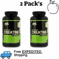 2 Pack's Optimum Nutrition, Micronized Creatine Powder, Unflavored 10.6 oz 300 g