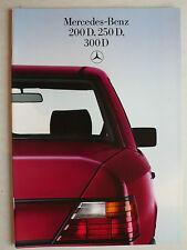 Prospekt Mercedes W 124: 200 D, 250 D, 300 D, 12.1984, 30 Seiten