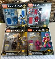(4x) MEGA Construx Probuilder - HALO POWER / ARMOR PACKS - Brand New & Sealed!!!