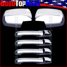 For Honda PILOT 2003-2006 2007 2008 Chrome Covers Set 2 FULL Mirrors+4 Doors w/o