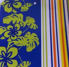 Blue & Green Frangipani Cotton Velour/Jacquard Beach Towel - 86 x 160cm
