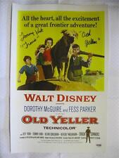 "Tommy Kirk Signed ""Old Yeller"" Autograph 11x17 Inscribed Canvas Auto PSA DNA COA"